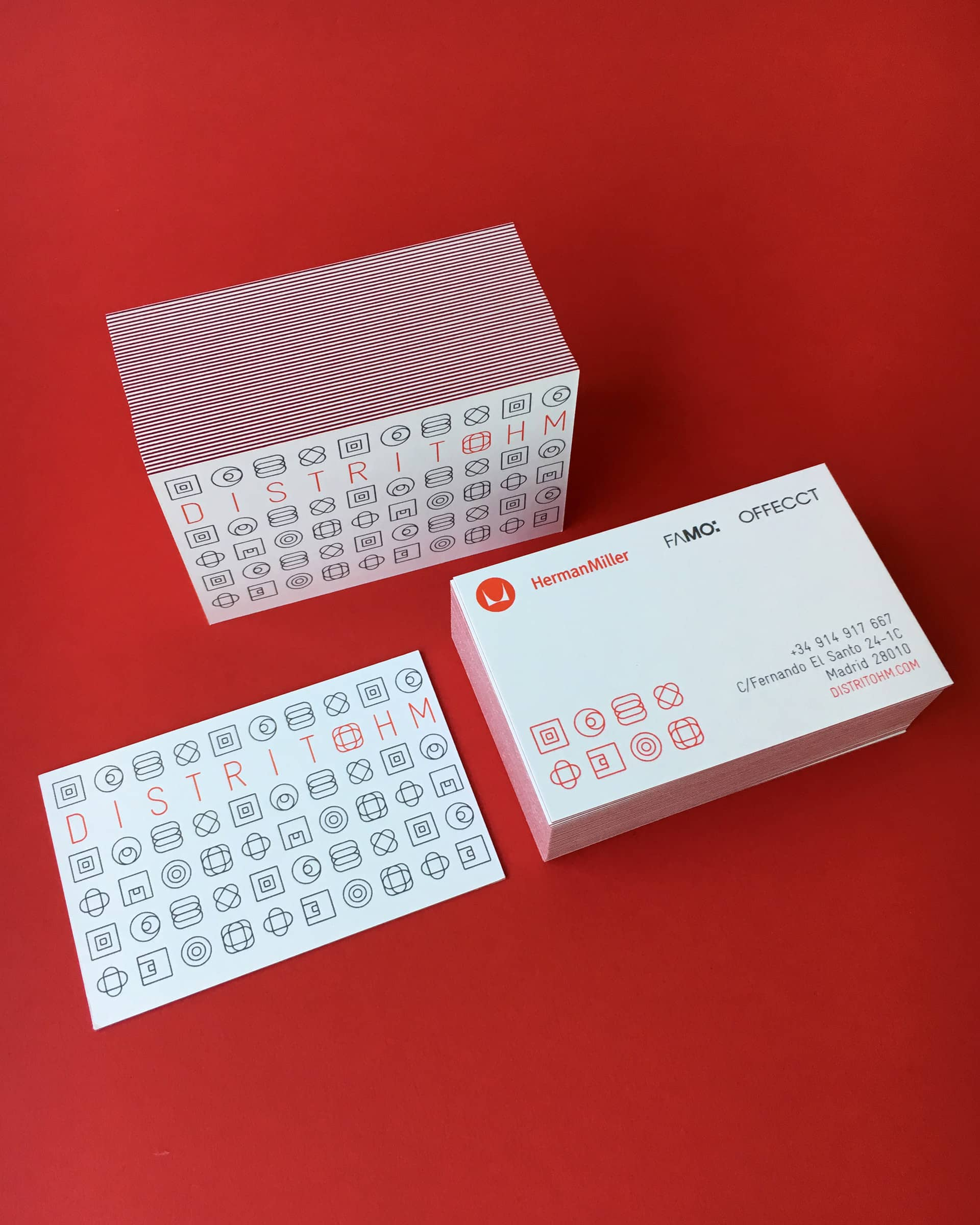 Distrito HM double-sided business cards design