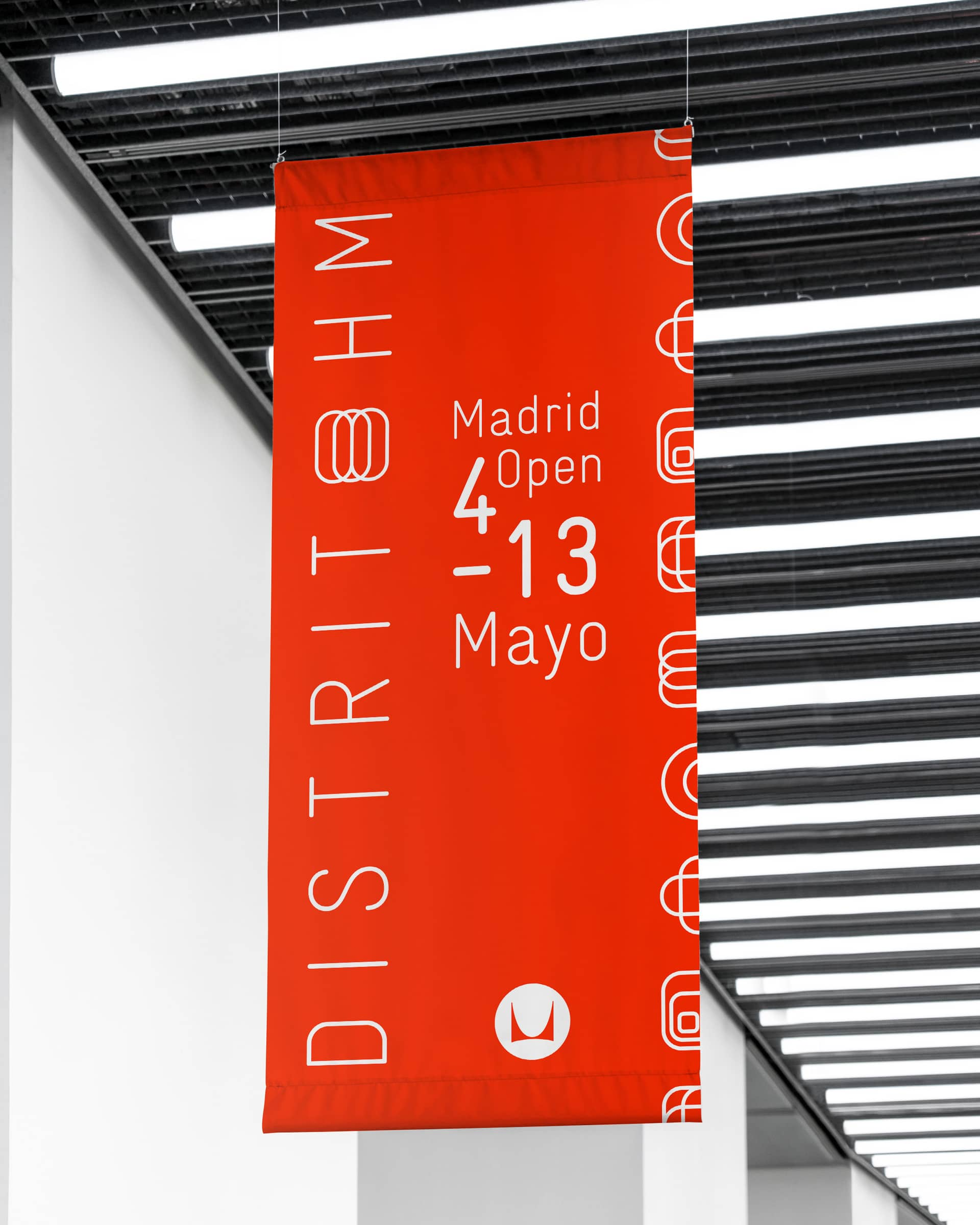 Distrito HM Herman Miller banner design campaign for Mutua Madrid Open