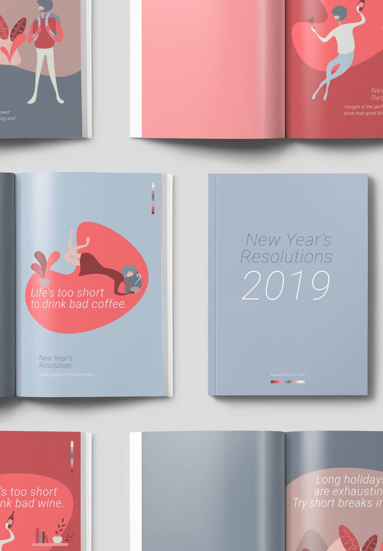New Years Resolutions illustrations
