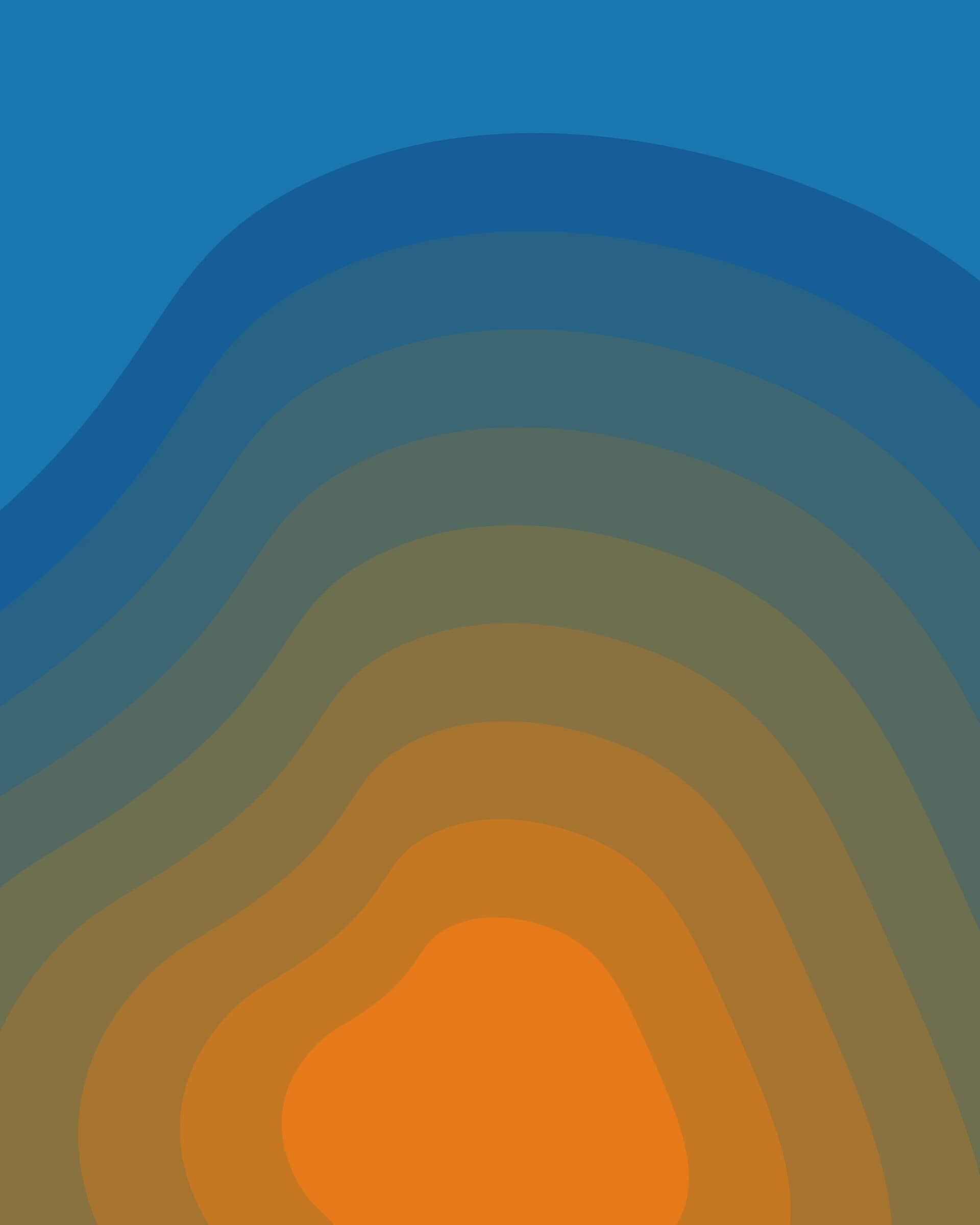 Yosiento branded orange-to-blue organic background